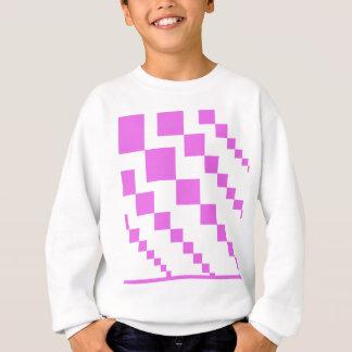 Sweatshirt Modèle descendant rose de diamants