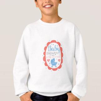 Sweatshirt Modèle rond de conception d'invitation de baby
