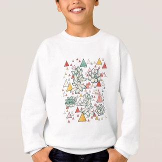 Sweatshirt Motif sans couture de Succulent et de triangles