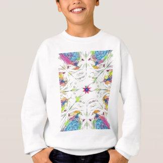 Sweatshirt motif vintage de mouchoir de ressort