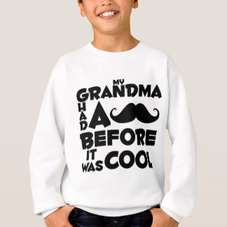 Sweatshirt moustache de grand-maman