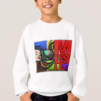 Sweatshirt Music in woman life