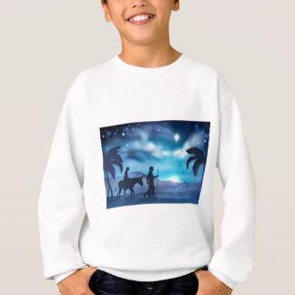 Sweatshirt Nativité Mary et illustration de Noël de Joseph