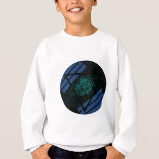 Sweatshirt Nébuleuse turquoise de tigre de hippie avec la