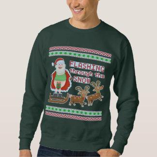 Sweatshirt Neige de clignotant drôle laide du chandail | Père