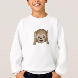 Sweatshirt N'entendez aucun singe mauvais Emoji
