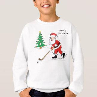 Sweatshirt Noël de Père Noël d'hockey