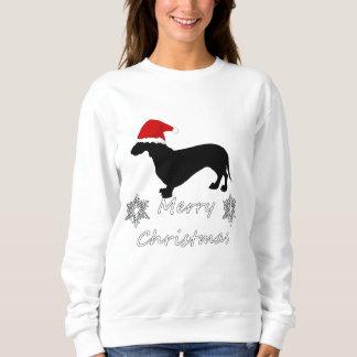 Sweatshirt Noël de teckel