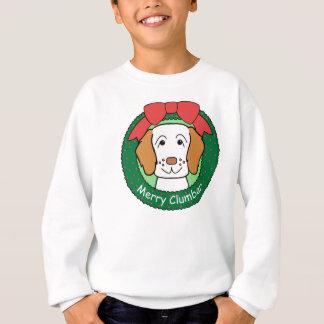 Sweatshirt Noël d'épagneul de Clumber