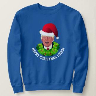 Sweatshirt Noël laid de Père Noël d'atout rouge drôle de