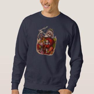 Sweatshirt Noël vintage, jouets victoriens de tuyau du père