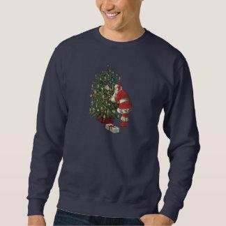 Sweatshirt Noël vintage, le père noël avec des présents