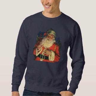 Sweatshirt Noël vintage, le père noël gai avec des jouets