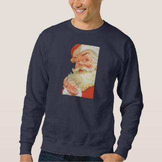 Sweatshirt Noël vintage, le père noël gai avec un secret
