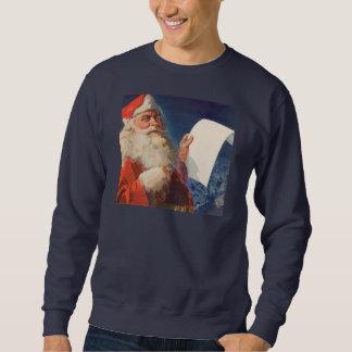 Sweatshirt Noël vintage, liste vilaine du père noël Nice
