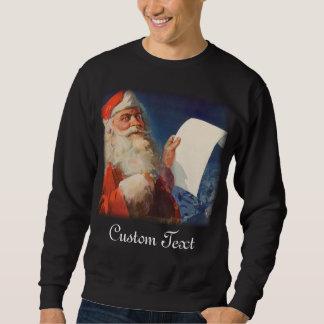 Sweatshirt Noël vintage liste vilaine ou Nice du père noël