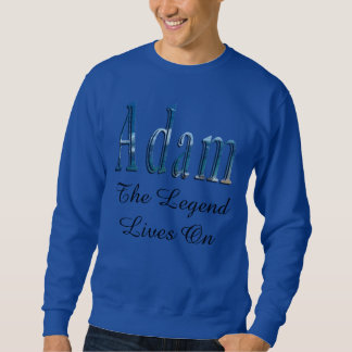 Sweatshirt Nom bleu d'Adam le logo de légende,