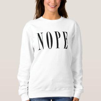 Sweatshirt NOPE - Texte noir