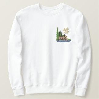 Sweatshirt Northwoods et broderie de monogramme d'orignaux