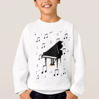 Sweatshirt Notes de piano à queue et de musique