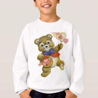 Sweatshirt Nounours attrapant des coeurs de Valentine