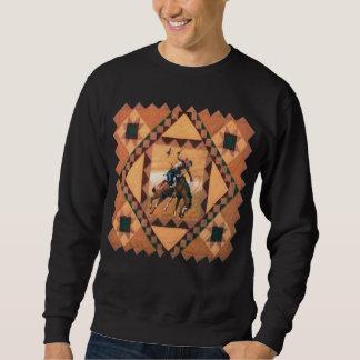 Sweatshirt occidental de cavalier de Bronc