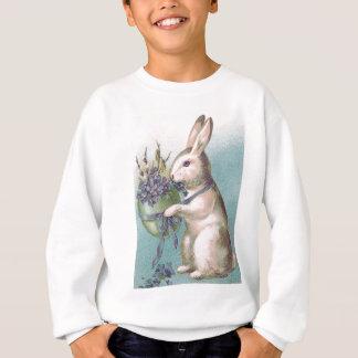 Sweatshirt Oeuf coloré par participation de lapin de Pâques