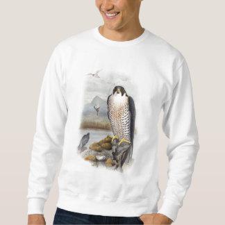 Sweatshirt Oiseaux de John Gould de faucon pérégrin de la