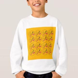 Sweatshirt Or d'éléments de fruit de conception
