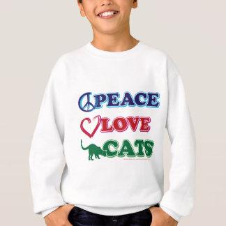 Sweatshirt Paix-Amour-Chats