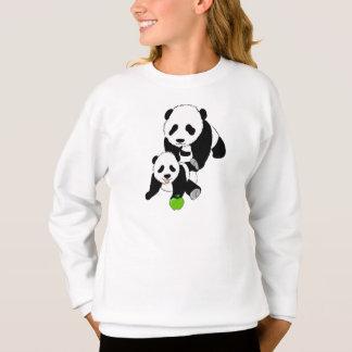 Sweatshirt Panda de mamans et de bébé