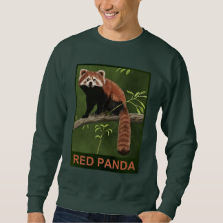 Sweatshirt Panda rouge