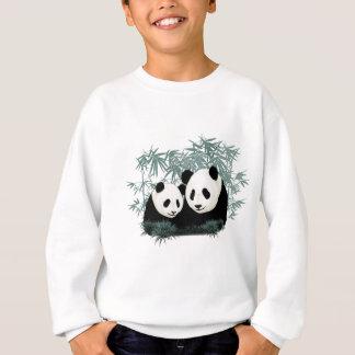 Sweatshirt pandas de maman et de bébé