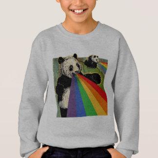 Sweatshirt Pandas tirant des arcs-en-ciel de leurs bouches