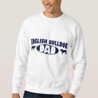 Sweatshirt Papa anglais de bouledogue