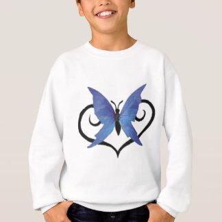 Sweatshirt papillon bleu mignon d'amour