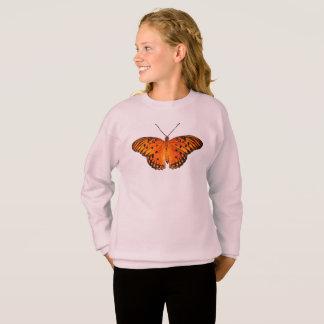 Sweatshirt Papillon orange de passion