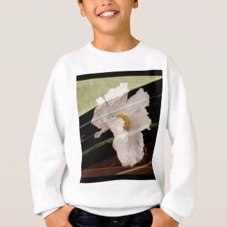 Sweatshirt Pavot cultivé avec l'arrière - plan rayé
