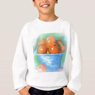 Sweatshirt Pêches dans une cuvette bleue