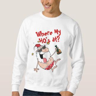 Sweatshirt Père Noël bu par Noël drôle où mon Hos à Noël