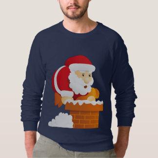Sweatshirt Père Noël partant furtivement en bas de la