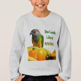 Sweatshirt Perroquet drôle du Sénégal