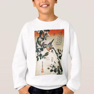 Sweatshirt Perroquet et fleurs
