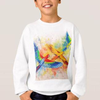 Sweatshirt Perroquets en vol