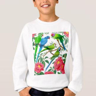Sweatshirt Perruches et pivoines