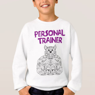 Sweatshirt Personnel entraîneur Gym forme Muscle Dumbbells