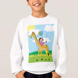 Sweatshirt Petite fille et girafe