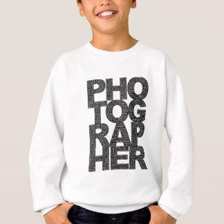 Sweatshirt Photographe - texte noir