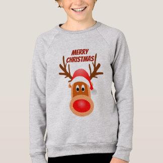 Sweatshirt Pièce en t de Rudolph de Joyeux Noël