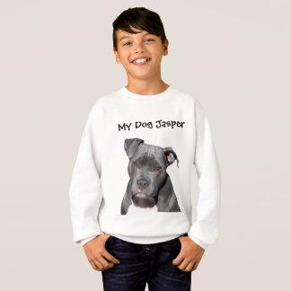 Sweatshirt Pitbull noir Editable